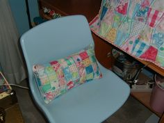 Sewing machine cover and matching lumbar pillow in my sewing room