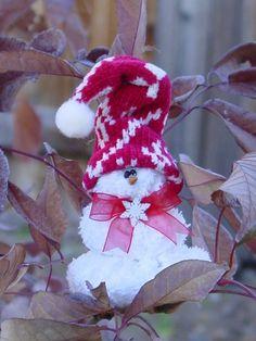 I'm melting snowman ornament