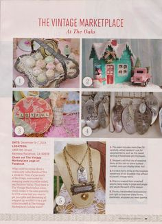 The Vintage Marketplace: ROMANTIC COUNTRY MAGAZINE Good morning! Have you picked up a copy of the latest Romantic Country Magazine Winter issue yet? The Vintage Marketplace at the Oaks is honored to be mentioned in one of the three best Holiday Markets in the Nation!