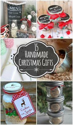 15 Handmade Christmas Gift Ideas - several cute AND easy handmade gifts!! { lilluna.com }