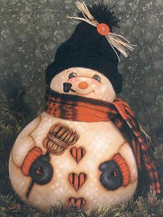 Free Gourd Painting Patterns | Gourds for All Seasons Vol. 4 Book by Sue Hollon - Gourd Painting ... snowman gourd, gourd art, gourd idea, craft books, season, painted gourds, paint gourd, gourd paint, gourd crafts