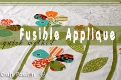 Quick Fusible Applique Method