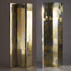 Paul Evans; Brass and Chromed Metal Room Screens for Directional, 1970s.