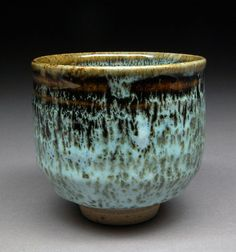 more tenmoku contrasted with turquoise. Michael Coffee.