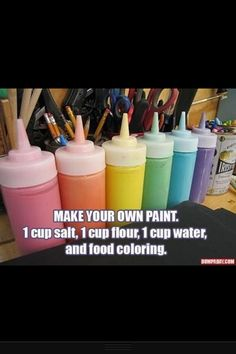 Do it yourself: how to make paint!