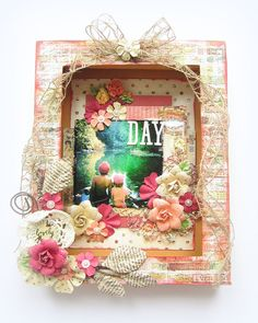Lovely Day- Shadow Box Canvas- Prima's Cigar Box Secrets Collection