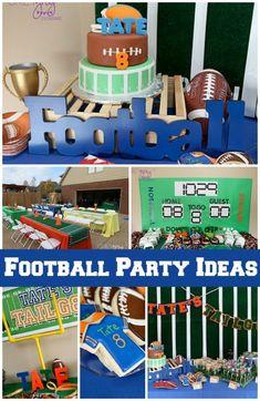 Football Themed Boy 8th Birthday Party www.spaceshipsandlaserbeams.com