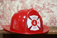 RED FIREHAT Printable Labels by GreenBeansieInk on Etsy, $10.00