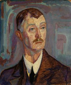 Portrait of John Masefield, 1918, Jerome Blum, oil on paper mounted on paperboard, 21 1/2 x 18 in. (54.6 x 45.7 cm), Smithsonian American Art Museum, Bequest of Frances E. Blum, 1971.263