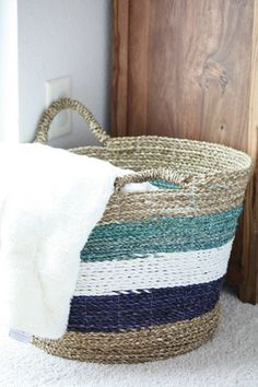 Beautiful baskets add function to an open space, and keep it stylish! #HomeGoodsHappy