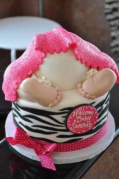 Baby Bottom Baby Shower Cake
