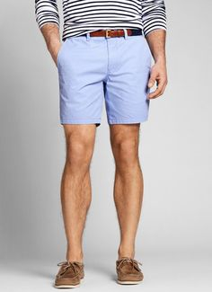 Purple Seven-Inch Washed Chino Shorts for Men | Bonobos