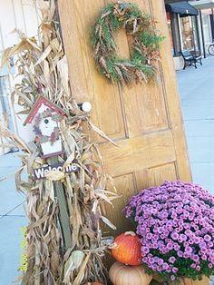 Fall outdoor decor (literally) #Fall #Decor