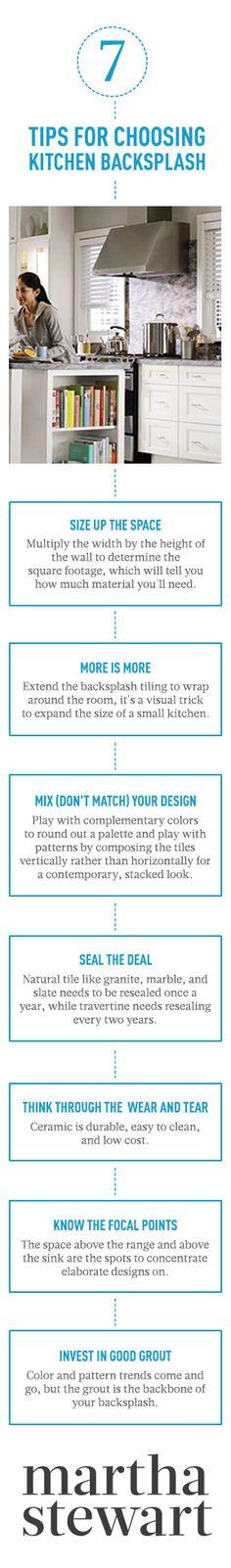 7 Tips for Choosing Kitchen Backsplash