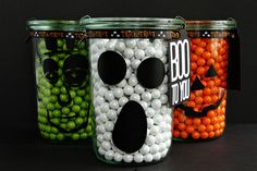 Halloween Candy Jars...I'll have to re-create these!