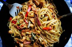 The Pioneer Woman's cajun chicken pasta: OMG guys this was soooo freaking good and not hard at all! only thing i did wrong was not let the wine and broth reduce before adding cream so the sauce needed a little help getting thick (little flour and water) any who please try!
