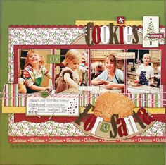 """Cookies for Santa"" scrapbooking layout"