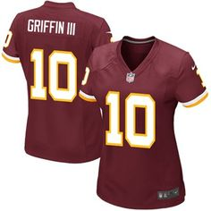 Nike RG3 Redskins Womens Draft Jersey for myself! RG3 - Robert Griffin III of course!