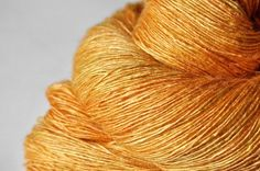 Smashed pumpkin - Tussah Silk Yarn Lace weight ~ DyeForYarn