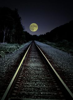 Track To The Moon Photograph by Emily Stauring - Track To The Moon Fine Art Prints and Posters for Sale