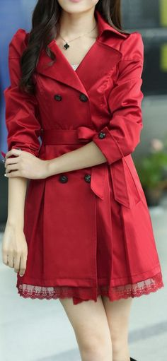 Elegant Red Coat Now $17.90