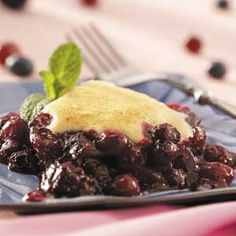 Triple-Berry Cobbler Recipe from Taste of Home