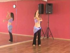 Belly dance steps demonstrated. Belly dance class:  http://www.bellydanceboulevard.com