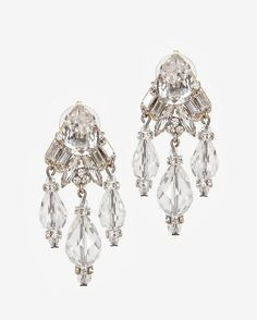 Erickson Beamon Holly Golightly Crystal Drop Earrings