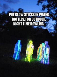 camping light, glowstick, glow sticks, camping idea, camp idea