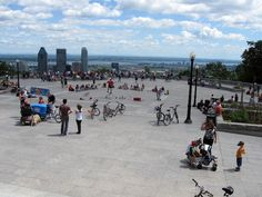 Mont Royal Park with Montreal in the backround