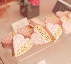 heart rice crispy treats - for valentines day