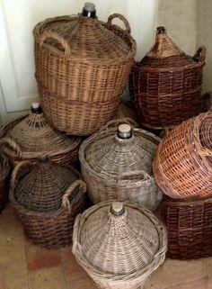 *French wine jugs