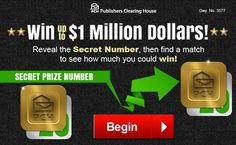 Free Online Sweepstakes & Contests | PCH.com winning number found by moises vasquez of perris, california
