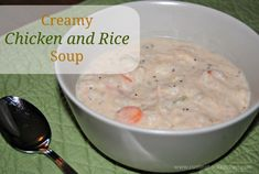 Cream Chicken and Rice Soup