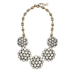 Crystal rosette necklace