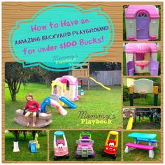Cheap Outdoor Play Area; Inexpensive Playground; Best Backyards; Swip Swap