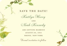 CYO Rustic Print:Evergreen Save the Date Magnet