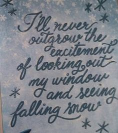 So true! I think I may get more excited each year... window, winter wonderland, true, inspir, winterwonderland, quot, christma, thing, fall snow