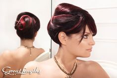 Great Lengths 3D Ruby Ombre/Wedding Updo