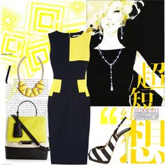 """""""Yellow line...."""" by ornellav on Polyvore"""