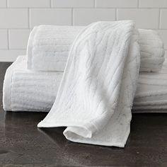 Organic Wood Grain towel, West Elm