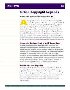Urban Copyright Legends #copyright #blogging