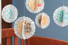 Make a Hanging Fabric Doily Mobile!!