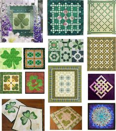 Quilt Inspiration: Free patterns: St. Patrick's Day