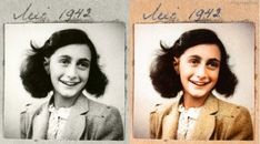 Colorized Historical Photos -Anne Frank