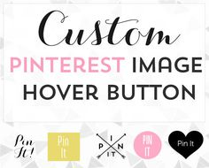 Custom Pin it Button on Image Hover for blogger or by ShinyMagic, $15.00