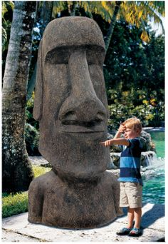 Life-size Easter Island Monolith Statues for sale on http://www.onemoregadget.com