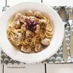 Penne im Topf: Spaghetti Köttbullar-Style