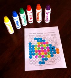 Sight Words Dot Marker Mystery Pictures - use do-a-dot markers or bingo daubers to color in sight words according to the key and create a mystery picture! Such a fun way to practice reading sight words and color words! $
