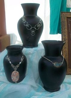 vases to showcase big necklaces.